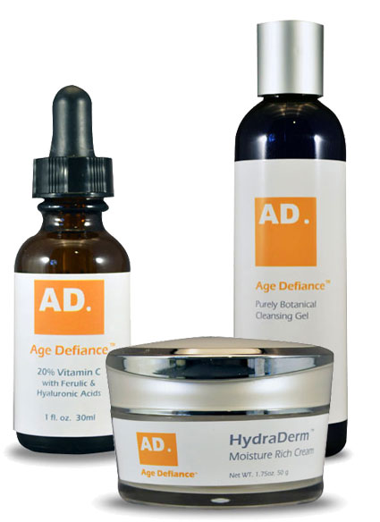 Age Defiance skin care and cosmetics for all skin types - eczema, blackheads, rosacea, dermatitis, psoriasis, hyperpigmentation, wrinkles