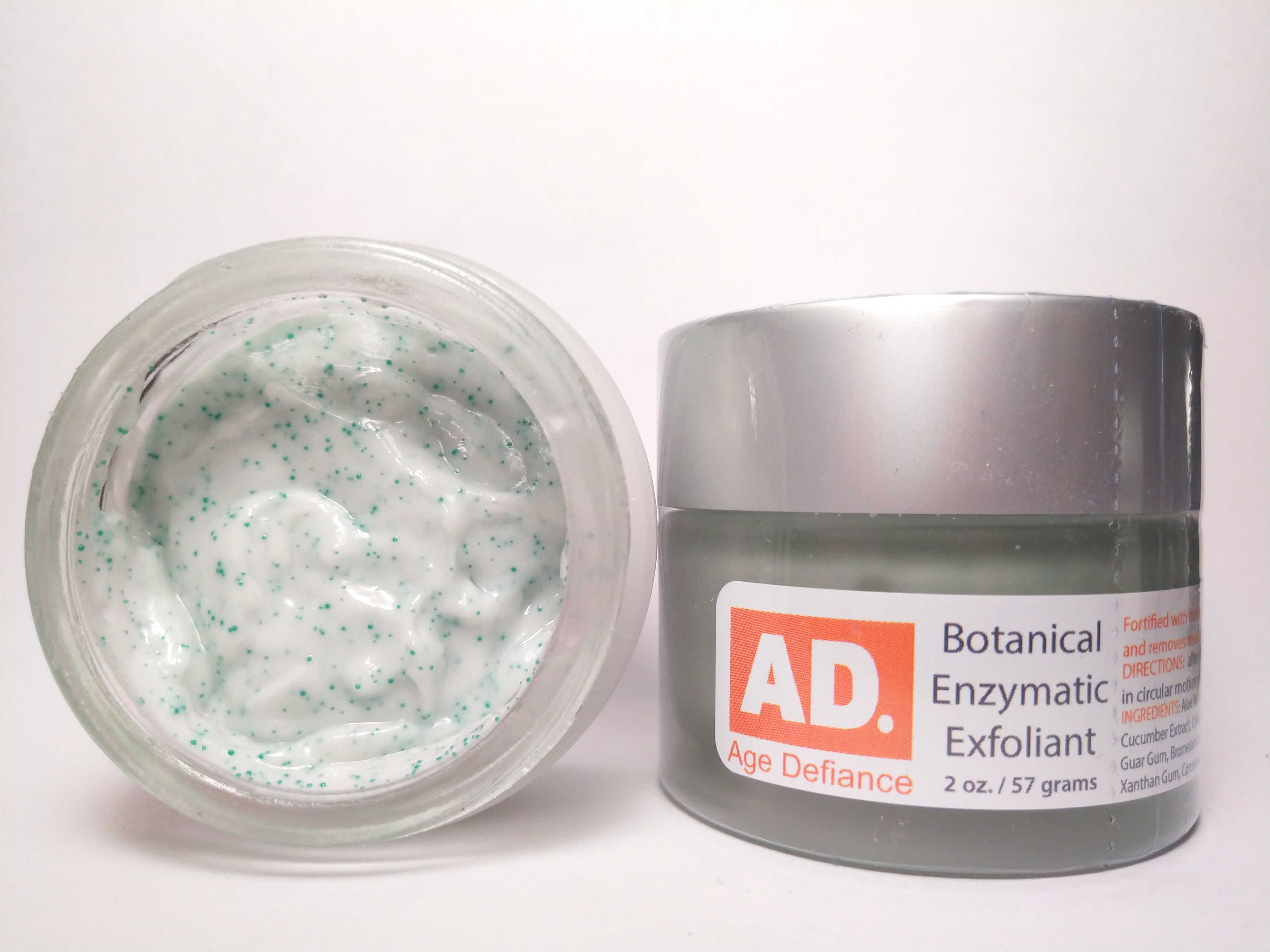 AD Botanical Enymatic Exfoliant wrinkles, age spots, liver spots, skin, wrinkles, hyperpigmentation, routine, cosmetics, beauty secrets, sensitive skin, face, skin care, morning, eyebrows