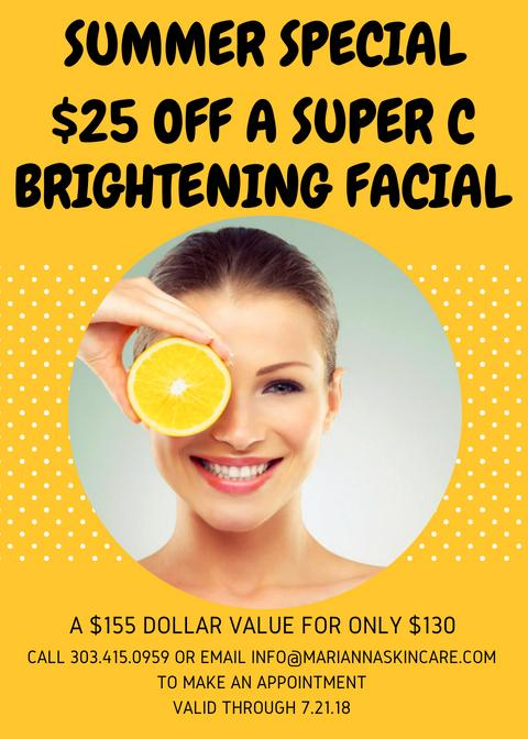 July 2018 special Vitamin C facial