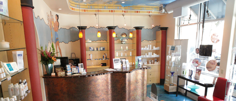 Mariannas Aesthetics Spa reception Boulder skin and massage specialists