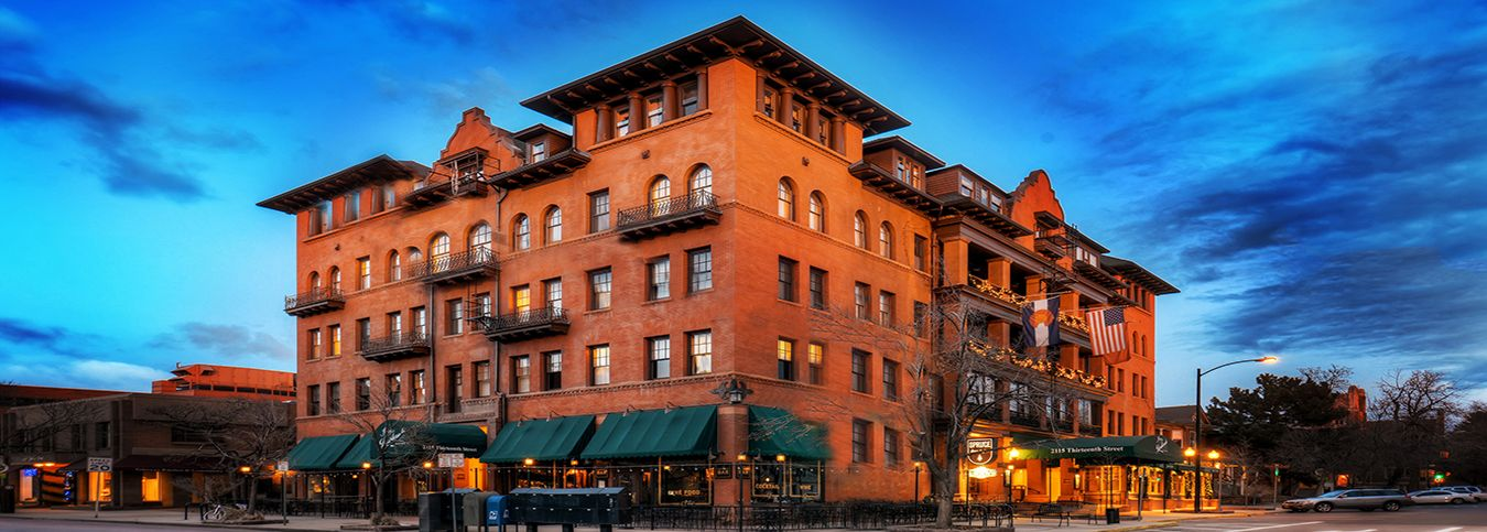 Hotel Boulderado downtown Boulder Colorado - partner with Marianna's Aesthetics & Spa